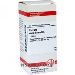 FERRUM METALLICUM D 5 Tabletten 80 St