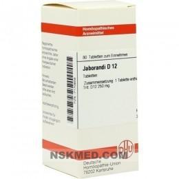 JABORANDI D 12 Tabletten 80 St