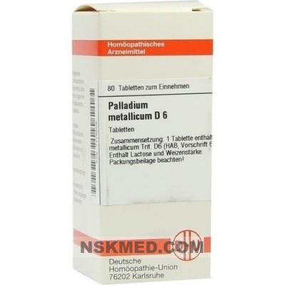 PALLADIUM METALLICUM D 6 Tabletten 80 St