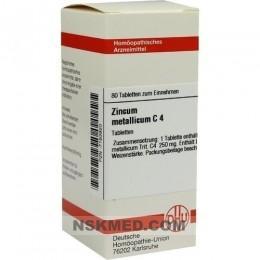 ZINCUM METALLICUM C 4 Tabletten 80 St