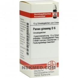 PANAX GINSENG D 6 Globuli 10 g