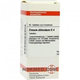 ZINCUM CHLORATUM D 4 Tabletten 80 St