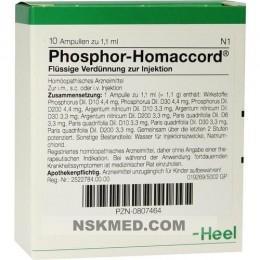 Фосфор гомаккорд ампулы (PHOSPHOR HOMACCORD) Ampullen 10 St