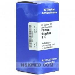 BIOCHEMIE 1 Calcium fluoratum D 12 Tabletten 80 St