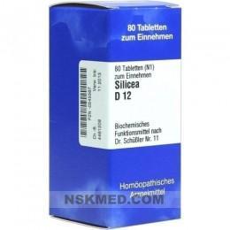 BIOCHEMIE 11 Silicea D 12 Tabletten 80 St