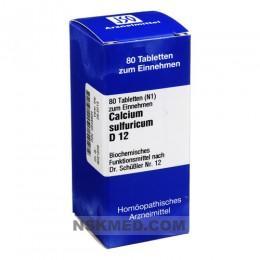 BIOCHEMIE 12 Calcium sulfuricum D 12 Tabletten 80 St