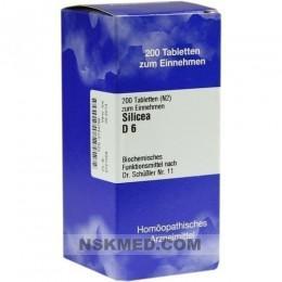 BIOCHEMIE 11 Silicea D 6 Tabletten 200 St
