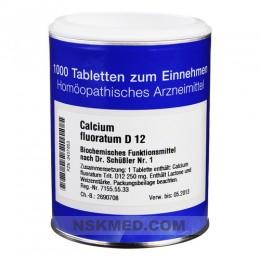 BIOCHEMIE 1 Calcium fluoratum D 12 Tabletten 1000 St