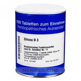 BIOCHEMIE 11 Silicea D 3 Tabletten 1000 St