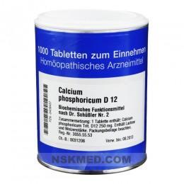 BIOCHEMIE 2 Calcium phosphoricum D 12 Tabletten 1000 St