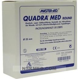 QUADRA MED round 22,5 mm Strips Master Aid 150 St