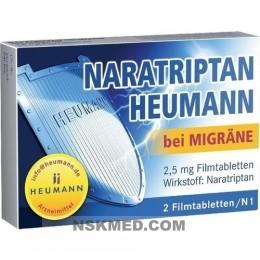 NARATRIPTAN Heumann bei Migräne 2,5 mg Filmtabl. 2 St