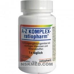 A-Z комплекс ратиофарм таблетки (A-Z KOMPLEX ratiopharm Tabletten) 30 St