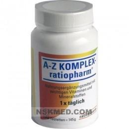A-Z комплекс ратиофарм таблетки (A-Z KOMPLEX ratiopharm Tabletten) 100 St
