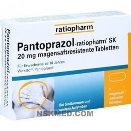 PANTOPRAZOL ratiopharm SK 20 mg magensaftres.Tabl. 7 St