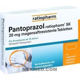 PANTOPRAZOL ratiopharm SK 20 mg magensaftres.Tabl. 14 St