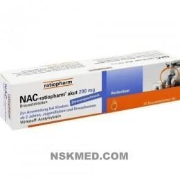 NAC ratiopharm akut 200 mg Hustenlöser Brausetabl. 20 St