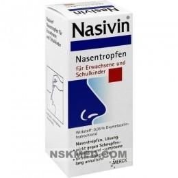 NASIVIN 0,05% Erw.u.Schulkinder Nasentropfen 20 ml