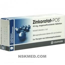 Цинкоротат-POS (ZINKOROTAT POS) magensaftresistente Tabletten 20 St