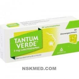 TANTUM VERDE 3 mg Lutschtabl.m.Zitronengeschmack 20 St