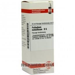PALLADIUM METALLICUM D 6 20 ML